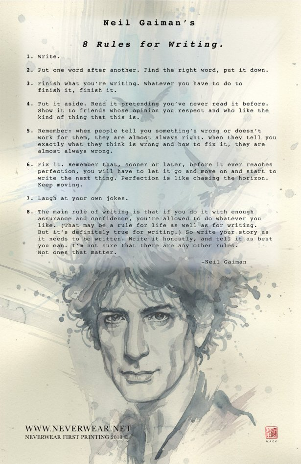 8 Rules of Writing_Neil Gaiman